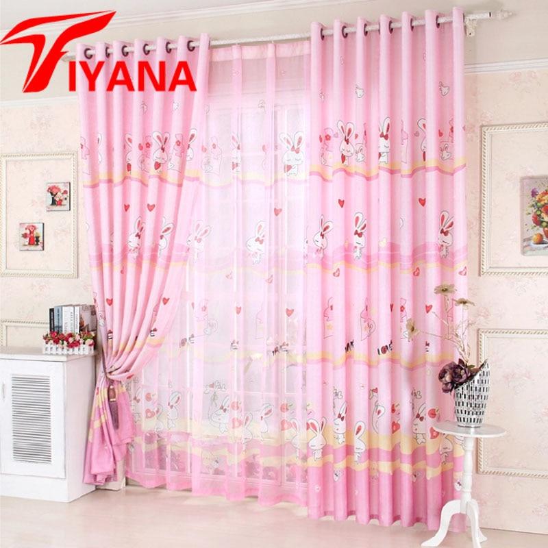 New Arrival Cartoon Curtains For Nursery School Kids Curtain Rabbit Baby Curtains For Girls Boys Room