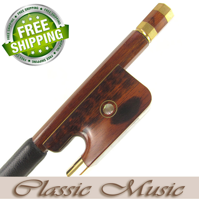Gold Alloy Fitted Pernambuco Cello Bow with Snakewood Frog (4/4), Good Mongolian Horse Hair. 1 pcs 56 4 4 cello bow high quality baroque snakewood