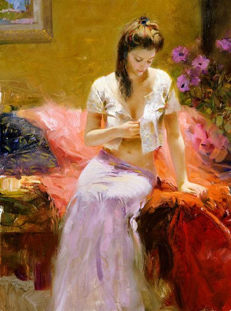 Polina - Sergey Lesnikov art - Paintings & Prints, People