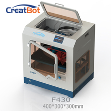CreatBot PEEK 3D Printer F430 400*300*300MM dual extruder 1.75mm PLA ABS large printing size All Closed Chamber