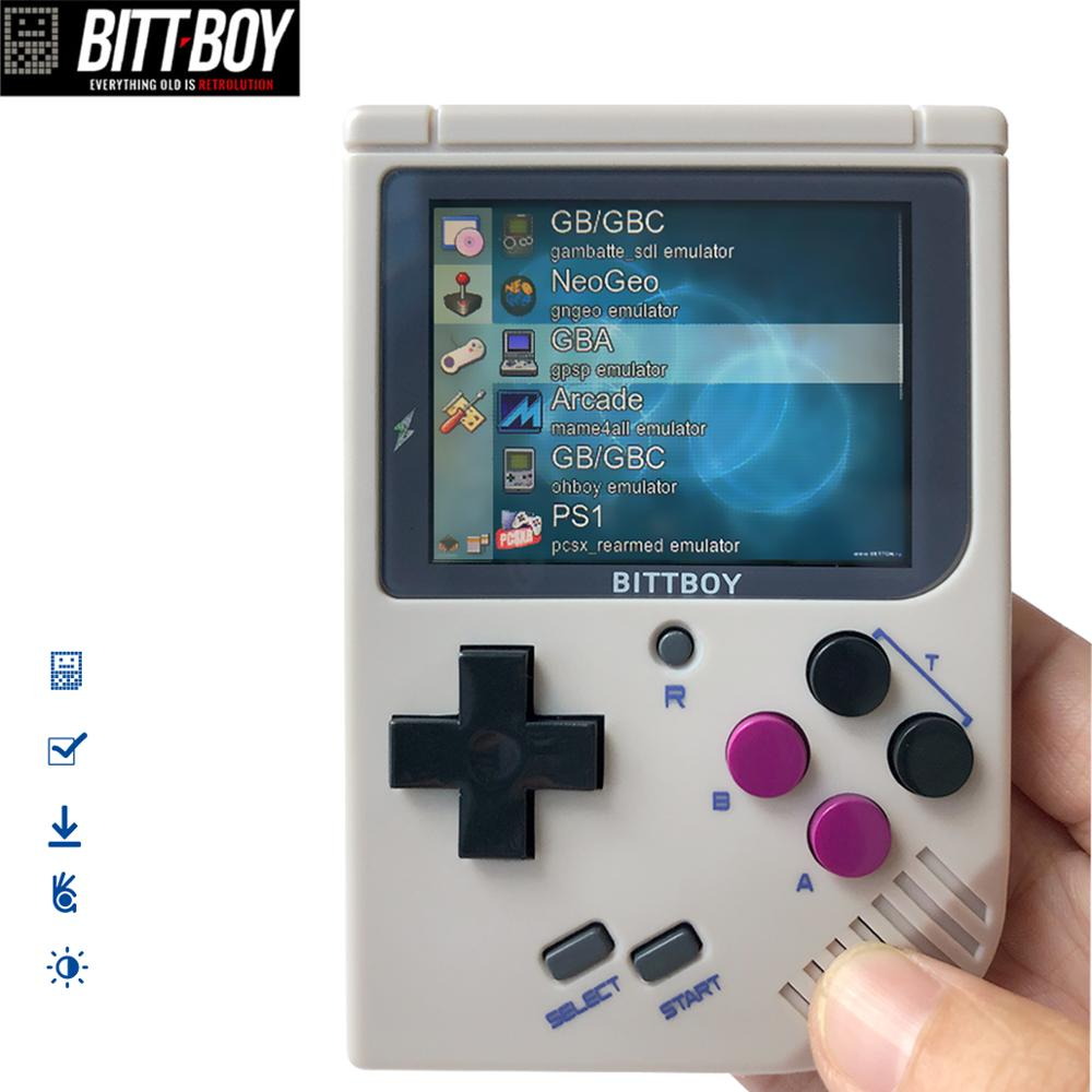 BittBoy V3.5+8GB, 2 pieces Game Console, Handheld game players, Retro Games for Child Nostalgic Player. Can save and load game