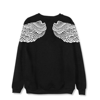 Dandeqi KPOP BTS Bangtan Boys V Wings On Back Printed Cotton Pullover K POP Hoodies Clothes