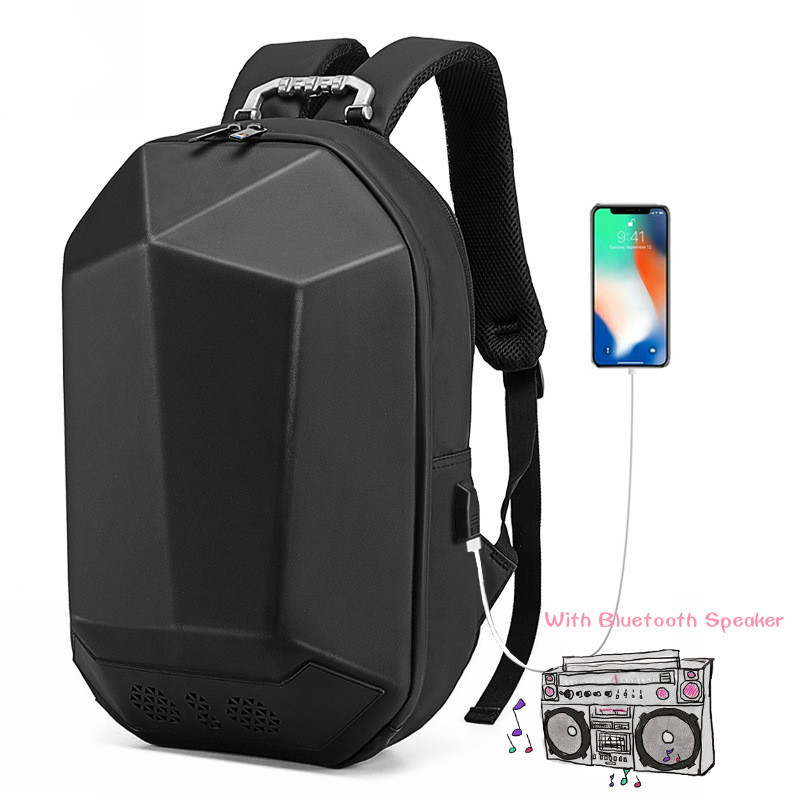 Book bag with speakers usb