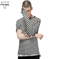 Aelfric Eden Men S Fashion Black White T Shirt Casual Striped Long Sleeve T Shirt Men