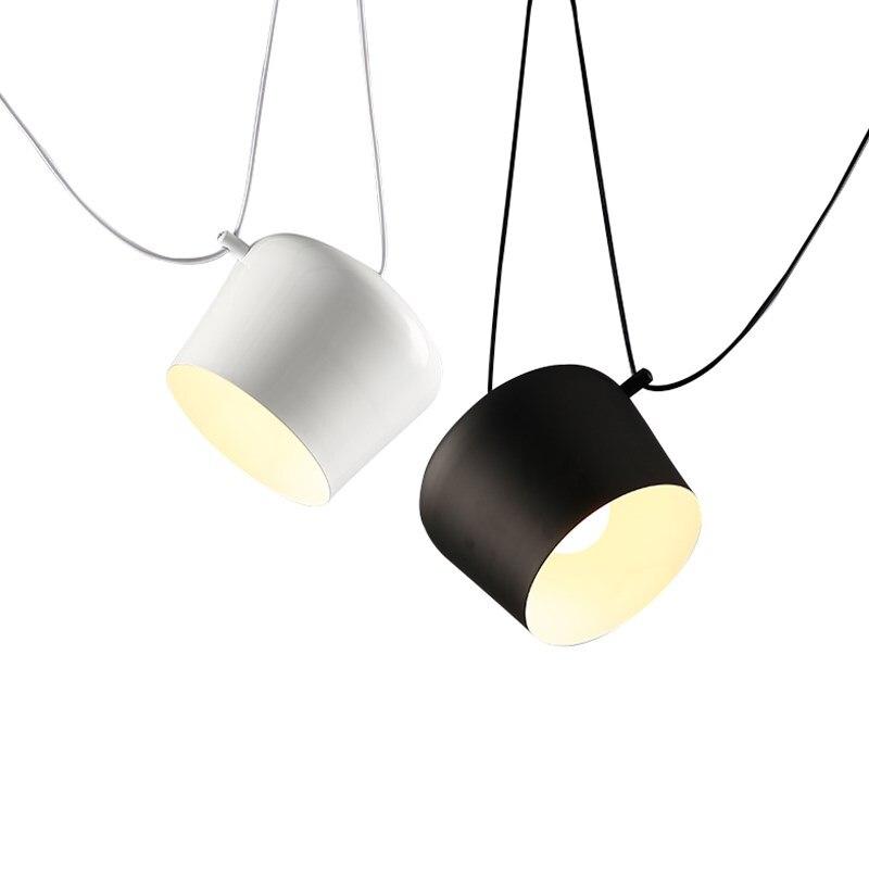 2013 réplique article créatif café Bar Restaurant spectacle Case objectif pendentif lumière lampe moderne nodique