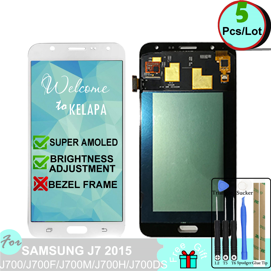 5 x Super AMOLED LCD For Samsung J7 2015 J700F J700M J700H J700DS Touch Screen Digitizer Assembly5 x Super AMOLED LCD For Samsung J7 2015 J700F J700M J700H J700DS Touch Screen Digitizer Assembly