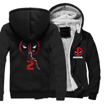 High Quality Mens Hoodies Autumn Winter Thick Coats DEADPOOL Print Jackets 2018 Hot Sale Hooded Hoddie Harajuku Sweatshirts Men