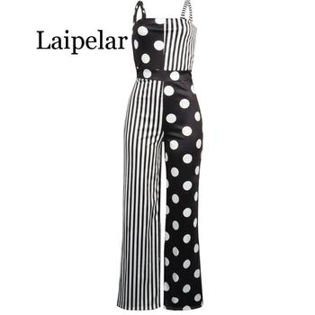 Laipelar Summer Sexy Jumpsuits Women Sleeveless Striped Jumpsuit Playsuits Streetwear Culotte Overall Pant