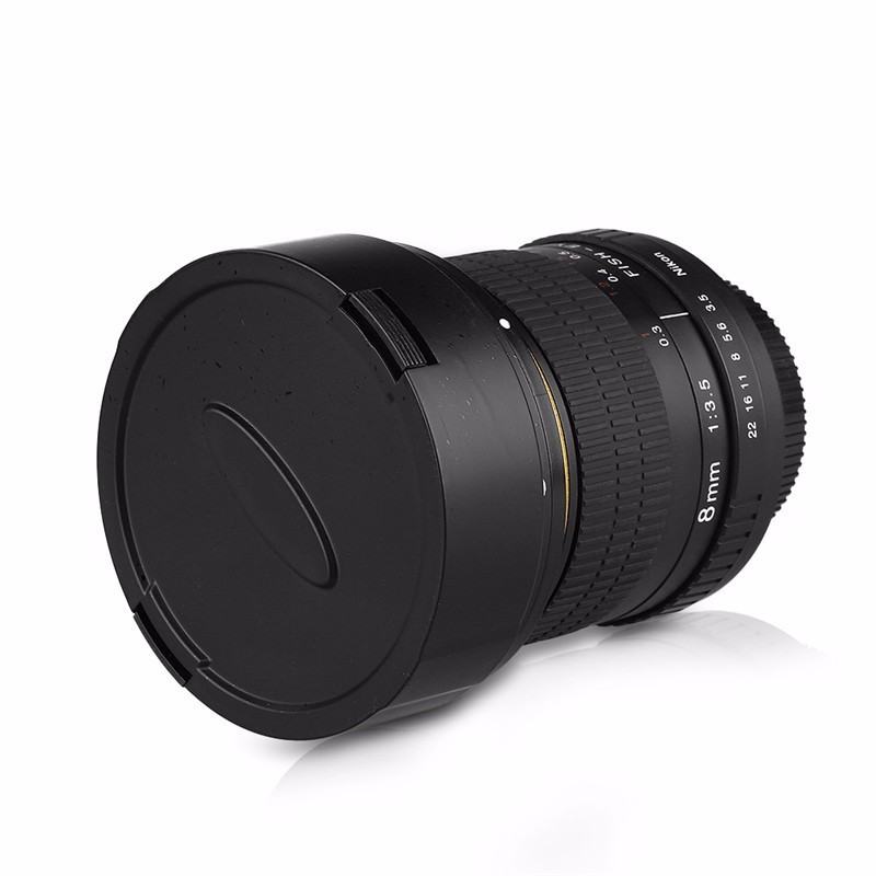 8mm F/3.5 Ultra Wide Angle Fisheye Lens for Nikon DSLR Cameras D3100 D30 D50 D5500 D7000 D70 D800 D700 D90 4