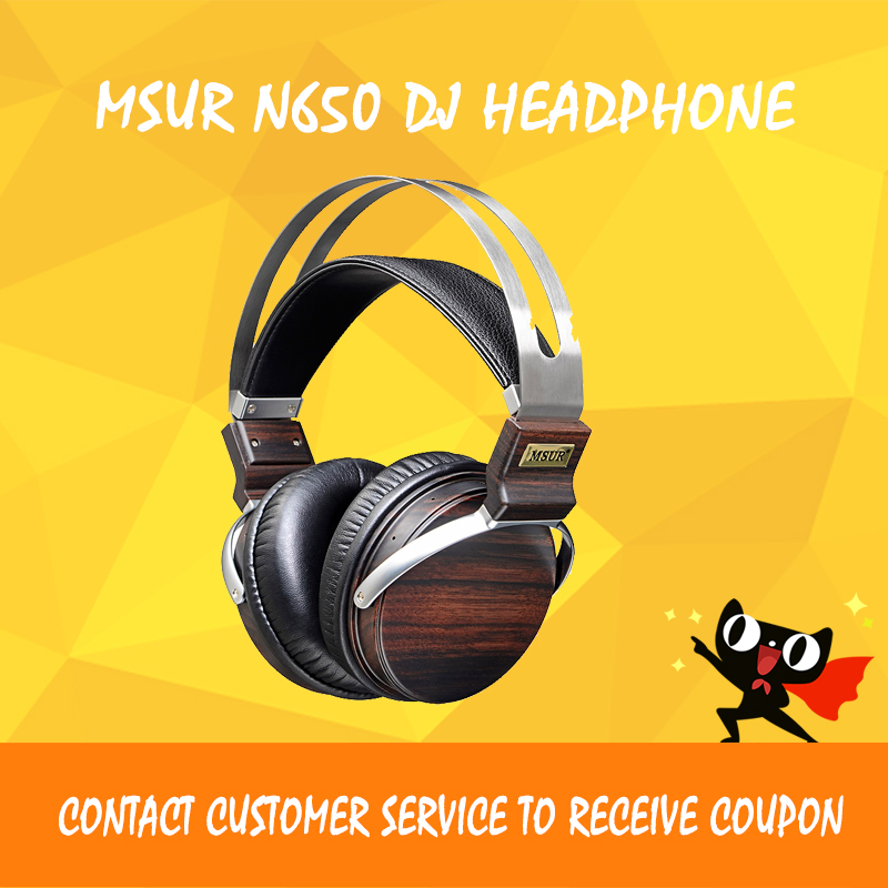 ASD MSUR N650 Wooden Metal Hifi Music DJ Headphone Headset Earphone With Beryllium Alloy Driver Portein