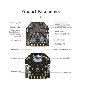 Image 3 - Micro: Maqueen Smart Car V4.0 Version for micro:bit Graphical Programming Robot Mobile Platform (without micro:bit Board)
