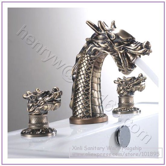 Aliexpress Buy Retail Luxury Brass Dragon Faucet