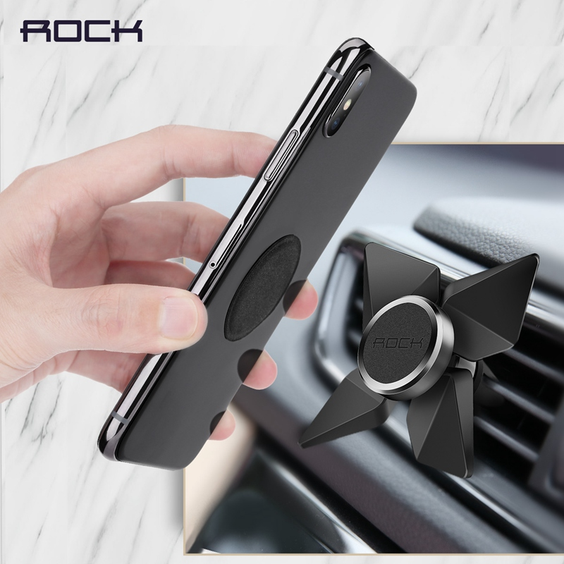 Tornado Magnetic Car Phone Holder, ROCK Rotary Magnet Air Vent Car Mount Holder Stand for iPhone X 8 plus for Samsung for Xiaomi