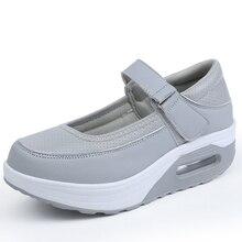 Women's Walking Shoes Brand Sneakers For Women Female Height Increasing Skatebording Shoes Zapato Platform Walking Shoes Eu35-42