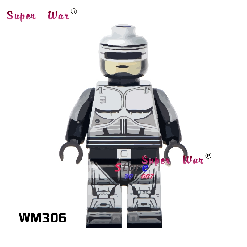 1PCS Model Building Blocks Action   Superheroes Robocop Friends Hobby Toys For Boys Diy Toys For Children Giftss
