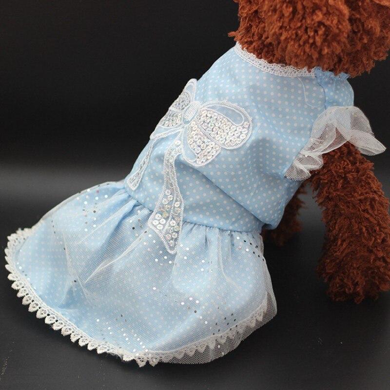 dogbaby azul ropa para mascotas cachorro de perro vestido de verano