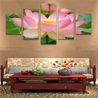 Art In Love Flower Lotus Modern Canvas Prints Artwork Pictures Photo Paintings On Canvas Wall Art Home Decorations 5pcs/Set
