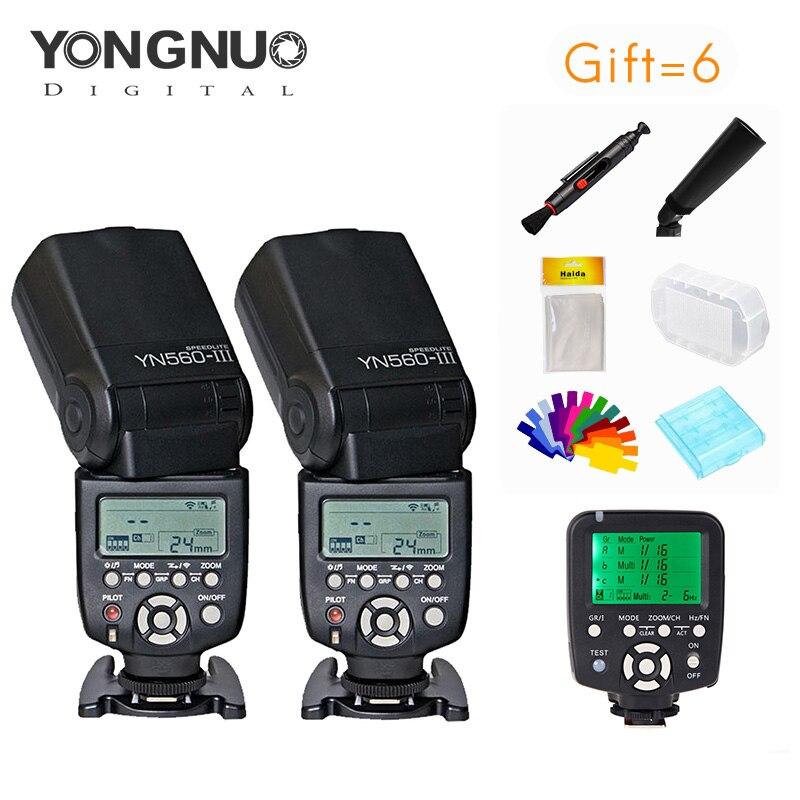 yongnuo 2 pieces YN560III 5600k Speedlite + YN560-TX Wireless Flash Controller and Trigger For Canon Nikon DSLR Camerasyongnuo 2 pieces YN560III 5600k Speedlite + YN560-TX Wireless Flash Controller and Trigger For Canon Nikon DSLR Cameras