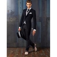 Hot tuxedo popular men's tail tail mate best man wedding ceremony for the pointed lapel 3 sets (jacket + pants + vest) custom