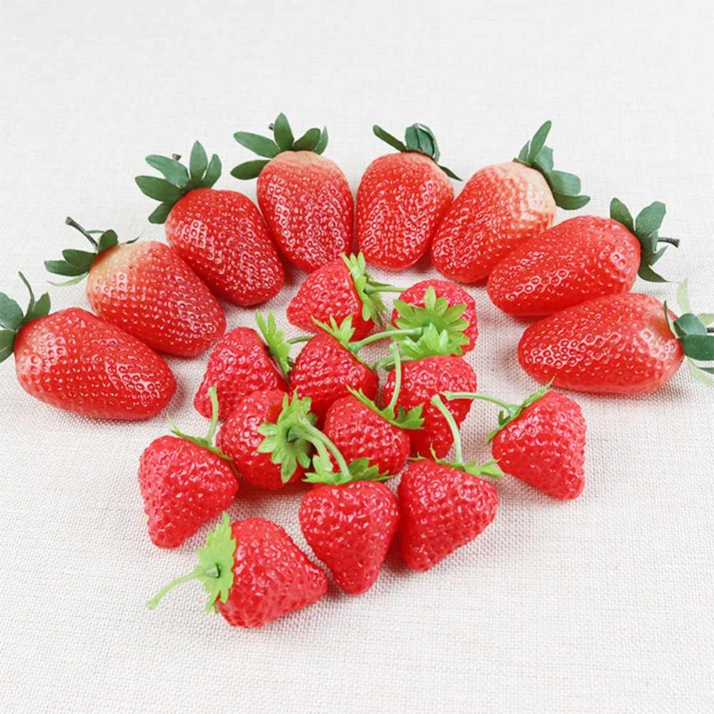 Artificial Fruits PVC Strawberry Food Food Cabinet Home Model Room Decoration Decoration Children's Room Decoration