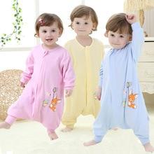 Baby Pajamas unisex Clothes for Sleeping Rompers Kids Autumn Sleepwear Cartoon Infant Children bag