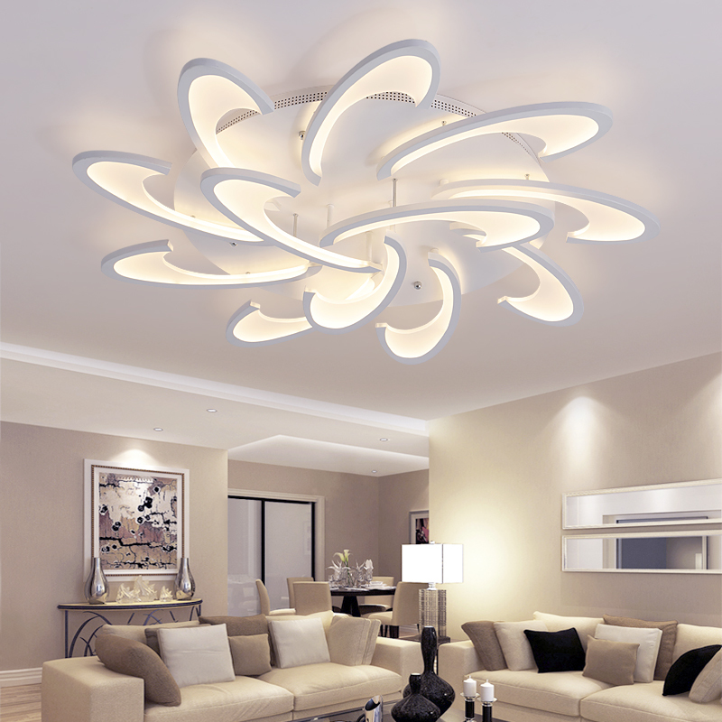 2017 surface mounted modern led ceiling lights for living room bedroom White Color AC85 265V Acrylic
