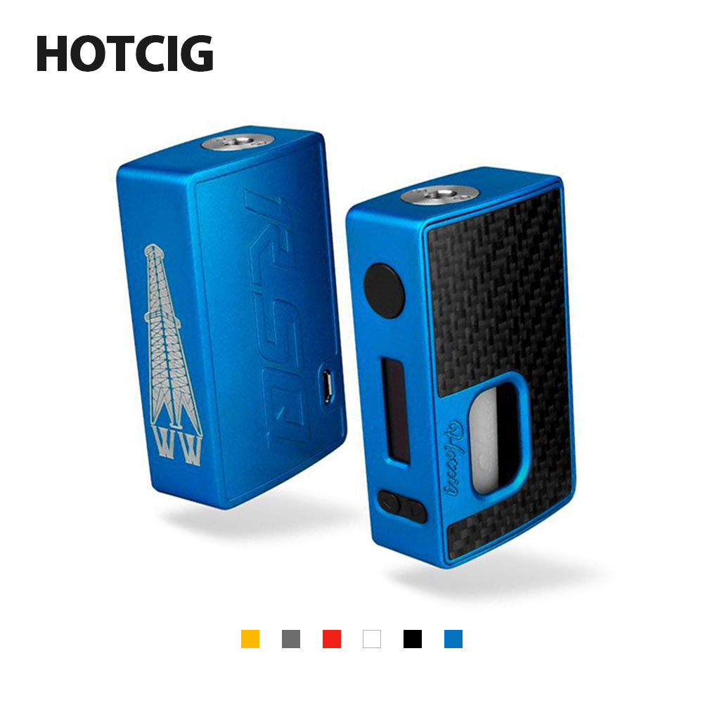 80W Original Hotcig RSQ TC Squonk Box MOD with 8ml Squeeze Bottle 0.8m/s Fast Firing & 0.9-inch OLED Display NO Battery Vape MOD 100% original geekvape gbox mod 200w gbox squonker box mod vape fit 8ml squonk bottle support radar rda tank