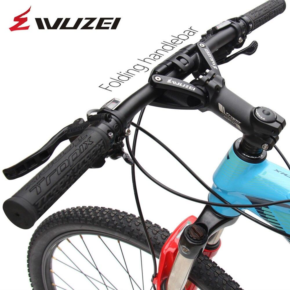 MTB Bike Folding Handlebars 25 4mm 31 8mm Crossbars