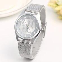 Nova marca de ouro genebra casual relógio de quartzo feminino metal malha aço inoxidável vestido relógios pulso relogio feminino venda quente