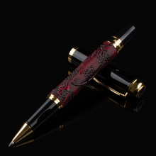 DIKA WEN dragon Pen Metal Rollerball pen and Pencil Box luxury school Office Stationery Writing Cute pens gift(China)