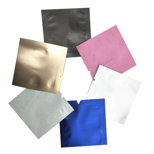 400Pcs 4.5x4.5cm Colorful Open Top Pure Aluminum Foil Vacuum Sealable Package Pouch Mylar Bags for Mini Gifts Snack Retail Pack