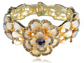 Enamel Painted   Crystal Rhinestone Spring Flower Bracelet Bangle Cuff [Jewelry]