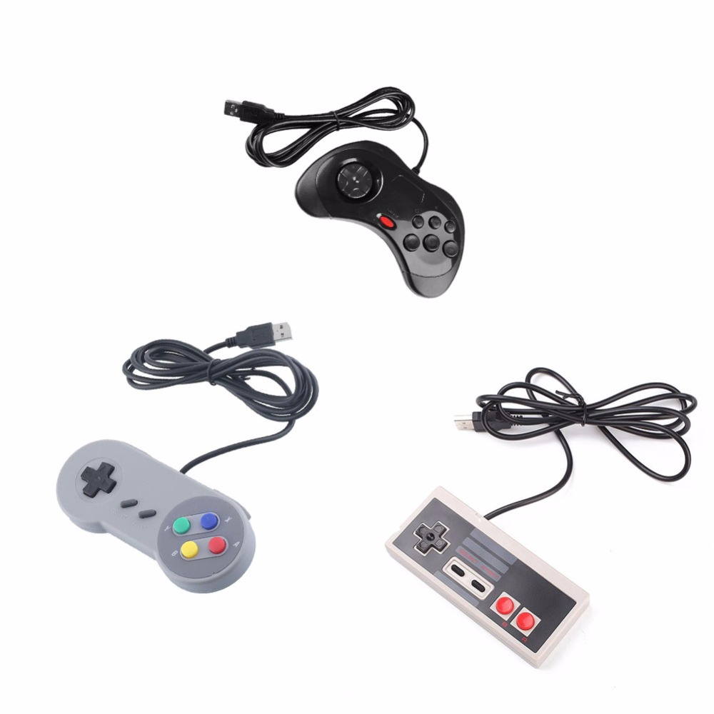 New Arrival 3 Pcs Wired USB Joystick Game Controller Gamepad Joypad For Snes For Nes For