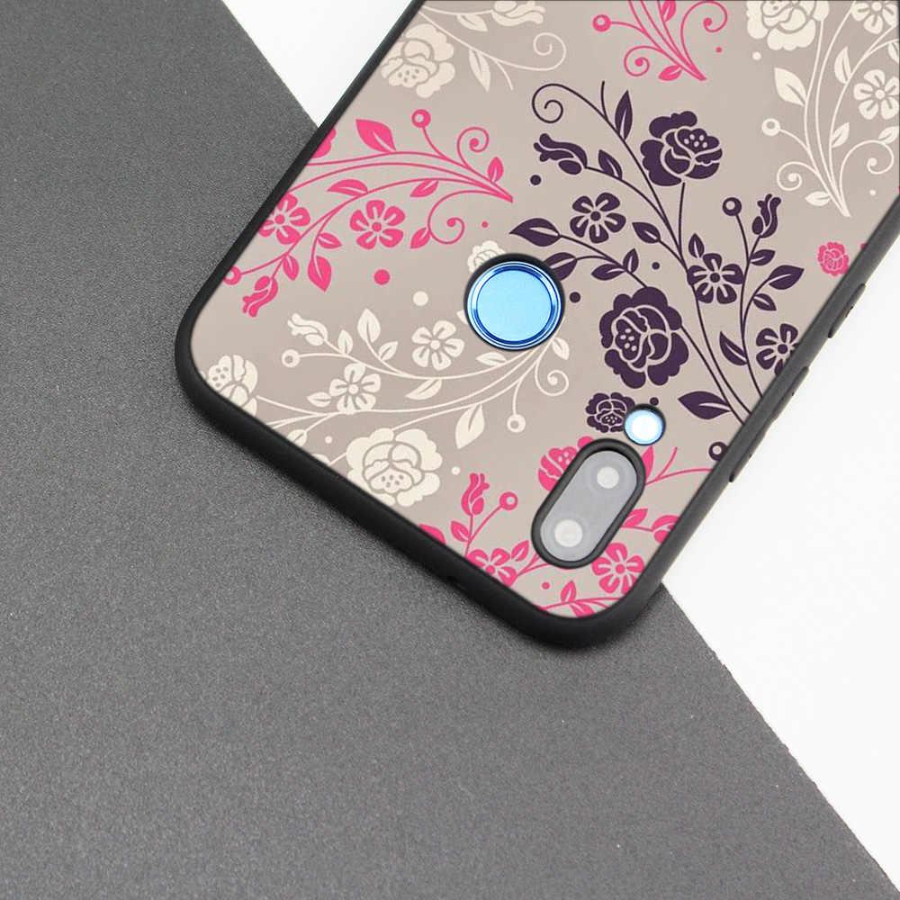Cubierta de la caja de silicona para Huawei P20 P10 P9 P8 Lite Pro 2017 P inteligente + 2019 Nova 3i 3E teléfono los casos Floral Paisley Mandala de la flor que