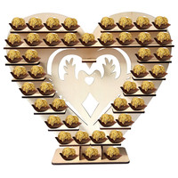 Romantic Chocolate Heart Shape Stand with Heart You&Me Candy Snacks Shelf DIY Wedding Party Table Centrepiece Decorative Crafts