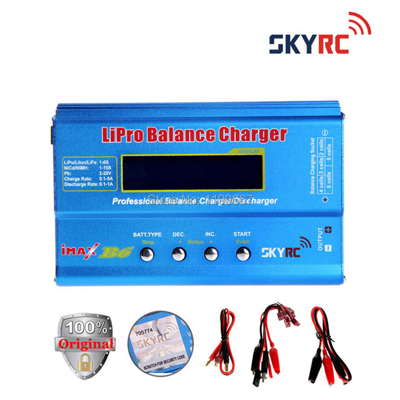 100% Original SKYRC IMax B6 With T Plug/ Digital LCD Lipo NiMh Battery Balance Charger 2s-6s 7.4v-22.2v 10pcs 10cm 100mm rc lipo battery balance charger cable 2s 3s 4s 5s 6s 22awg cable silicon wire plug for imax b3 b6