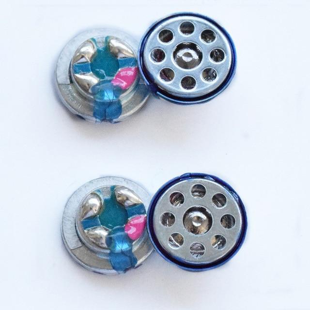 2 개/몫 10mm 32 옴 헤드폰 드라이버 유닛 diy 3 웨이 밸런스드 이어폰 라우드 스피커 composited pure titanium diaphragm