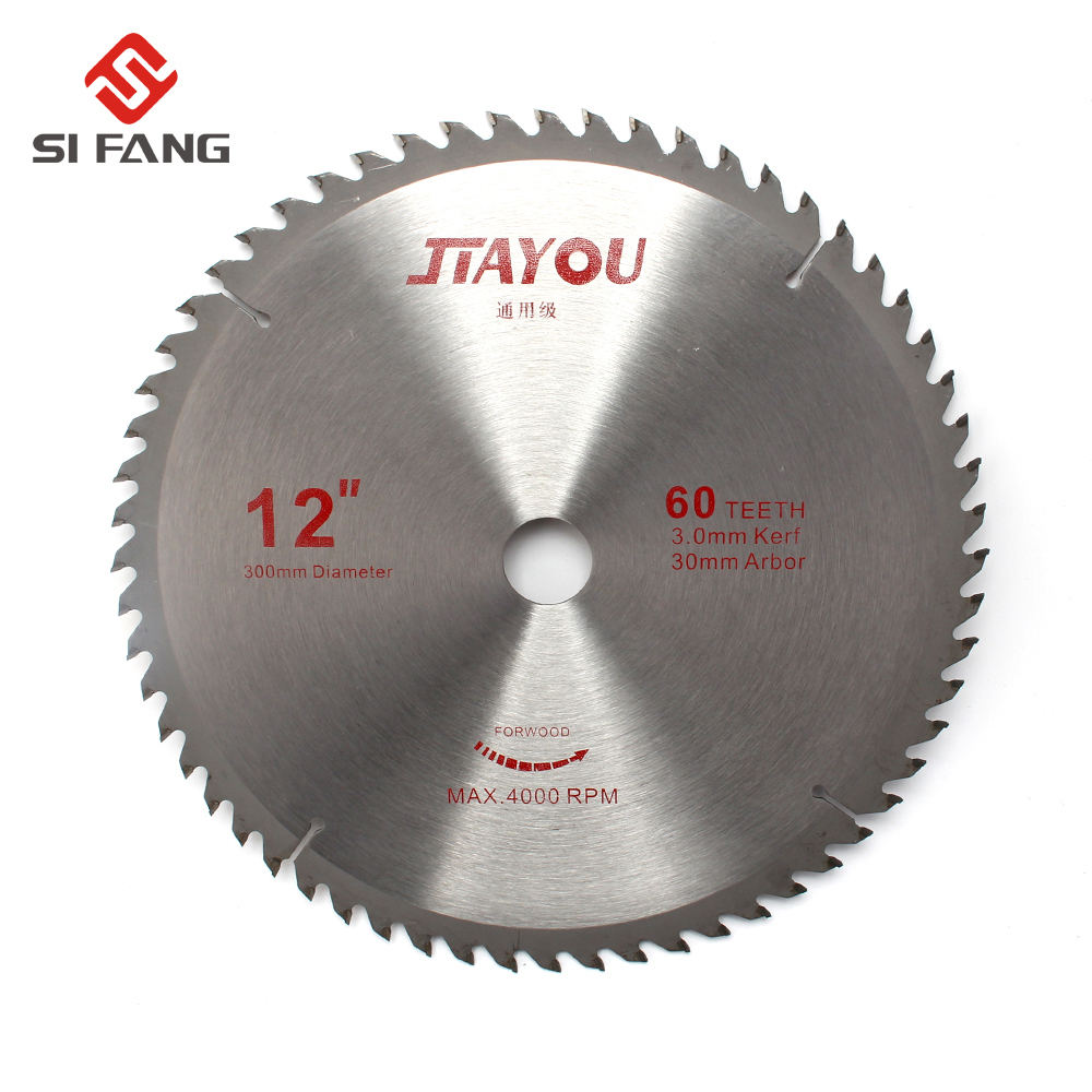 300mm 12-inch 40T/60T/80T/100T/120T Teeth Circular Saw Blade For Wood Cutting Woodworking Hard Soft Carbide Tip General Purpose