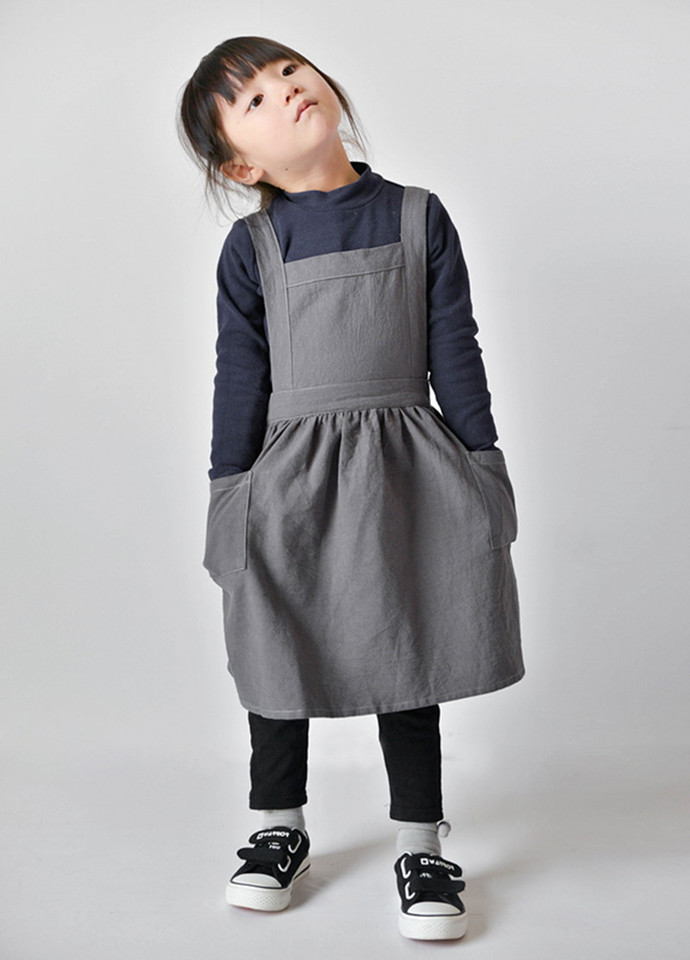 Children S Clothes Kids Skirt Aprons Simple Washed Cotton Uniform Unisex Aprons Drawing Cooking Gardening Baking Cake Multi Use Aprons Aliexpress