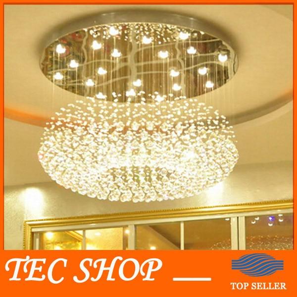 US $546.82 |JH Moderne Kristall Deckenleuchte Wohnzimmer Lampe Runde  Hängende Kristalllichter Hotel Lobby Kristall Lampe Engineering lampen-in  ...