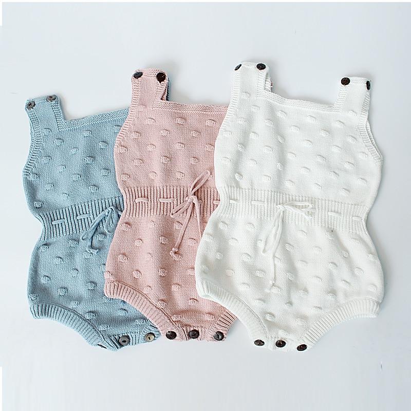 09aabee13 Mamelucos tejidos para bebés de primavera 2017 monos tejidos para bebés  recién nacidos