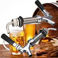 G5/8 Thread Dispenser Draft Beer Faucet With 92.5mm Long Shank Kit Kegerator Tap House Home Brew Bar DIY Beer Making Accessory