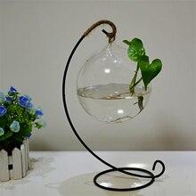 Hot Sell Clear Ball Hanging Flower Vase Planter Vase Terrarium Container Glass Bottle S