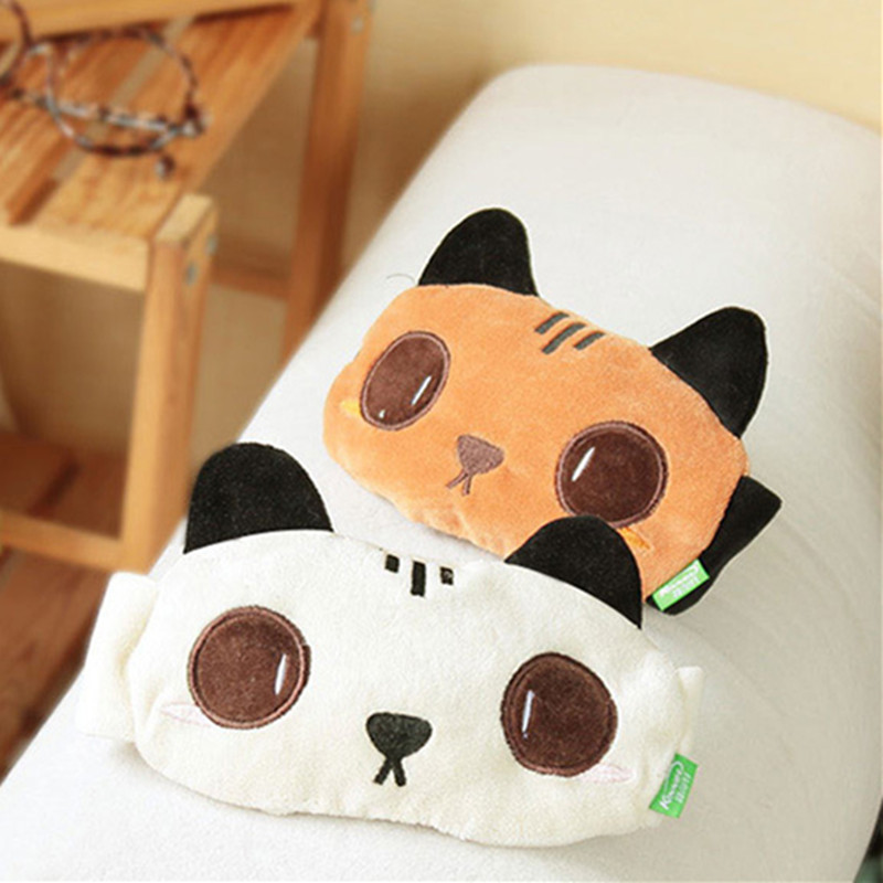 Cat Sleeping Eye Mask Cute Blindfold Shade Travel Sleep Aid Cover Eye Patch Blindfold Shade Blinder Goggles for health care
