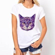 Фотография Adorable Animal T Shirt Cat Women Short Sleeve Anime Kawaii Dog Cute Female Tops Skeleton Summer Tees For Girl