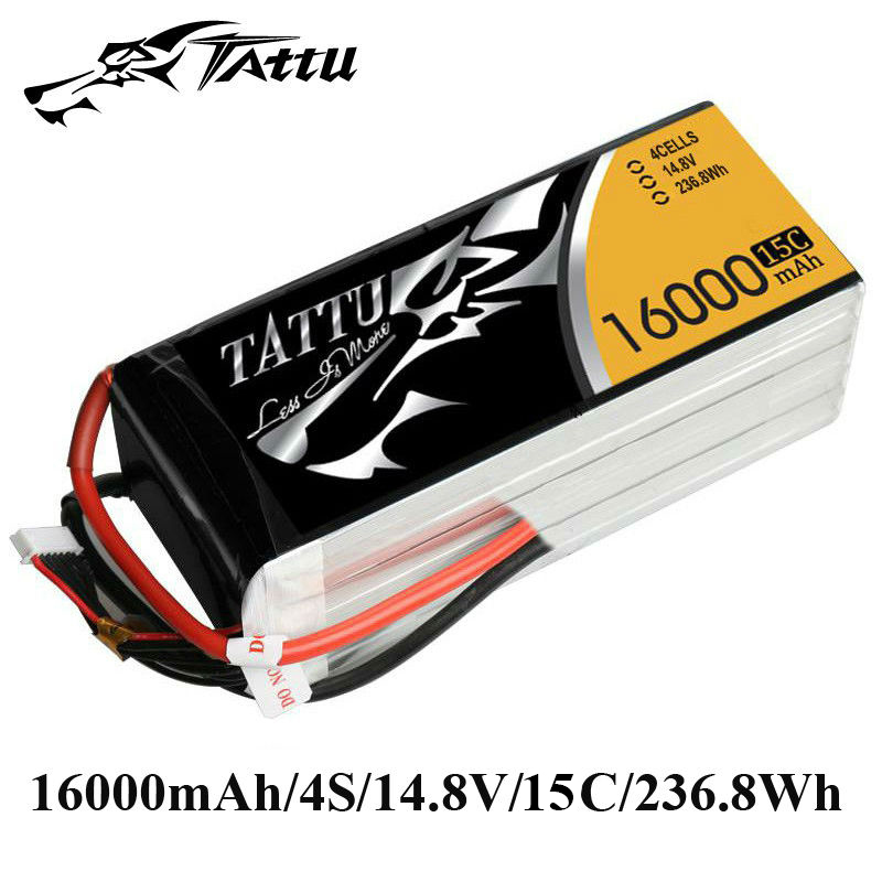 TATTU Lipo Battery 14.8V 16000mAh Lipo 4S 15C RC Battery Batteries for OnyxStar FOX-C8-HD Gryphon dron RC Drones Quadcopter FPV сарафан fox hd