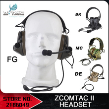 Z-Tactical Aviation headphone Comtac ii Headset Peltor Noise Canceling Hunting Tactical Headphones Z041