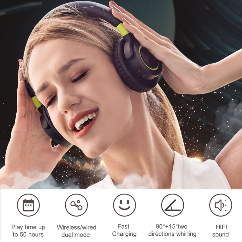 Newly Wireless/Wired Bluetooth Earphones Stereo Headphone Handfree Sport Headset Microphone for iOS/Android/PC new foldable 3 5mm stereo headband headphone headset hand free call with microphone 1 5m cable for pc windows phone ios android