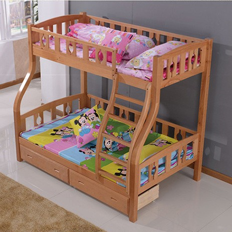 Beech Bunk Bed Bunk Bed Children S Picture Storage Cabinet