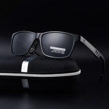 Men's Aluminum Polarized Sunglasses Mirror Sun Glasses Square Goggle Eyewear Accessories For Men Female vintage drive oculos